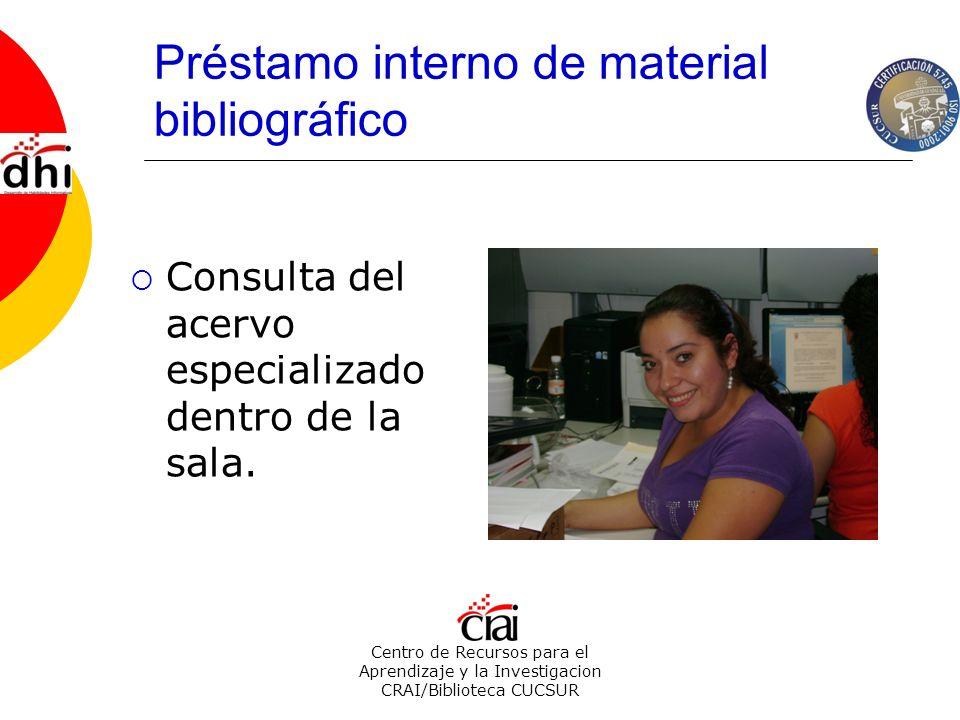 Préstamo interno de material bibliográfico