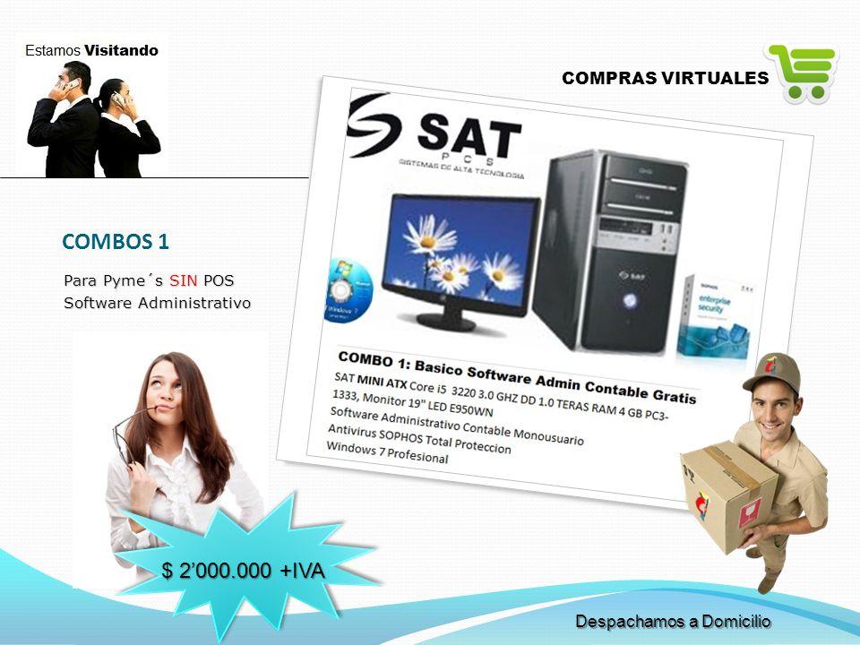 COMBOS 1 $ 2'000.000 +IVA COMPRAS VIRTUALES Despachamos a Domicilio