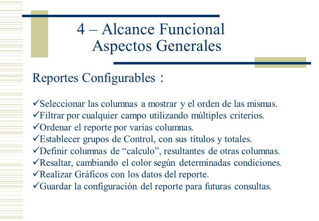 4 – Alcance Funcional Aspectos Generales