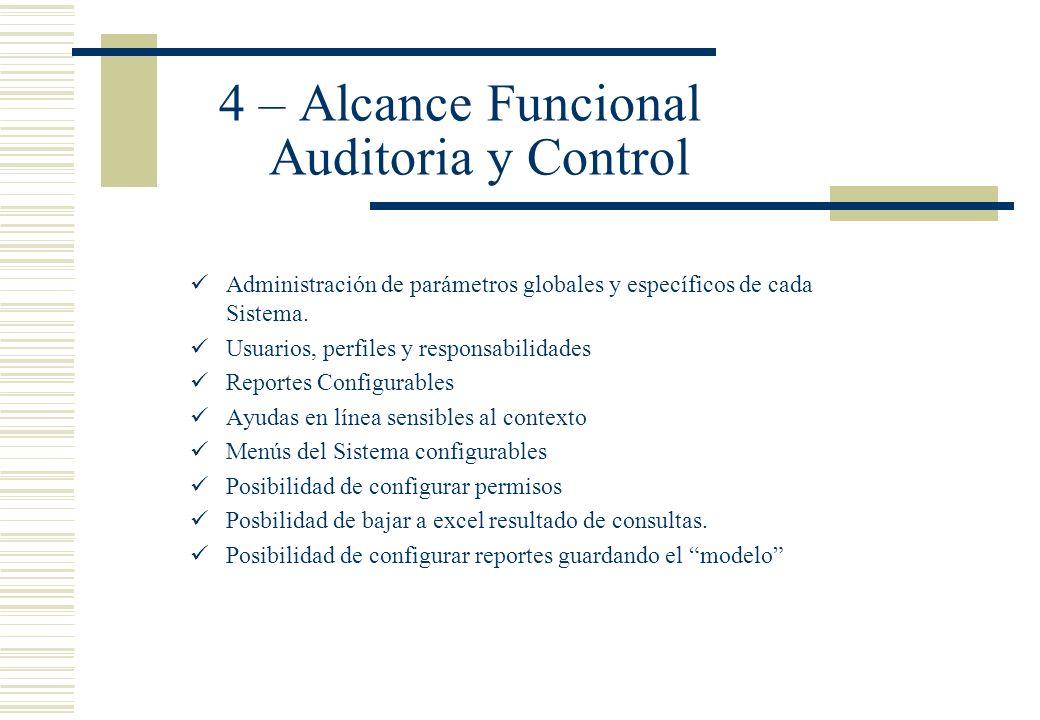 4 – Alcance Funcional Auditoria y Control