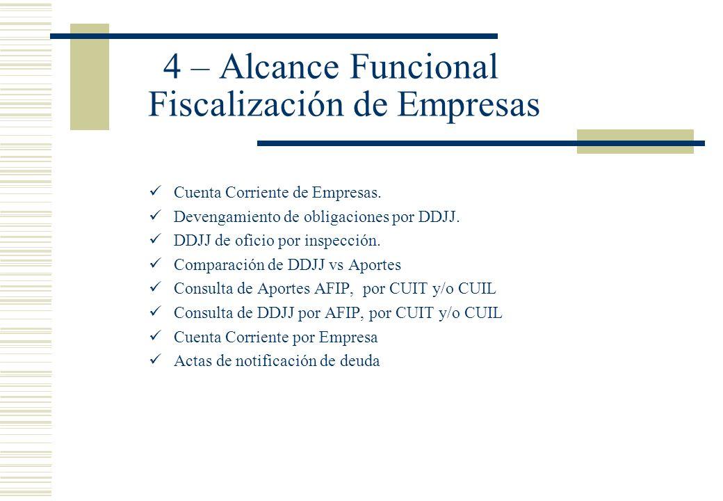 4 – Alcance Funcional Fiscalización de Empresas