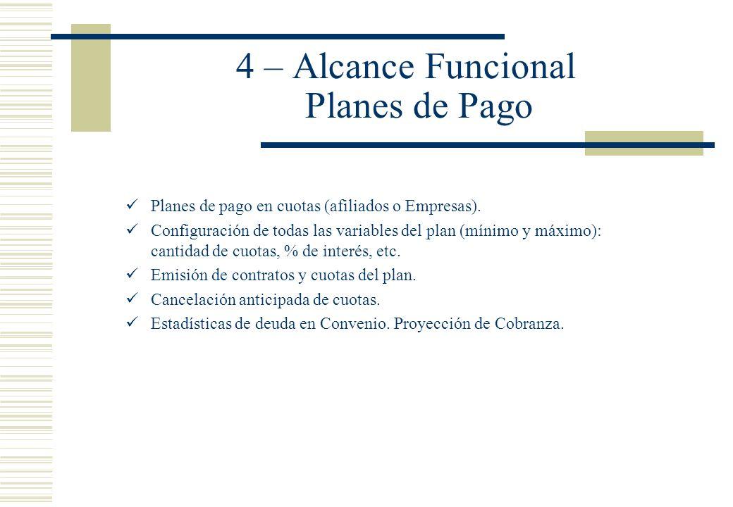 4 – Alcance Funcional Planes de Pago
