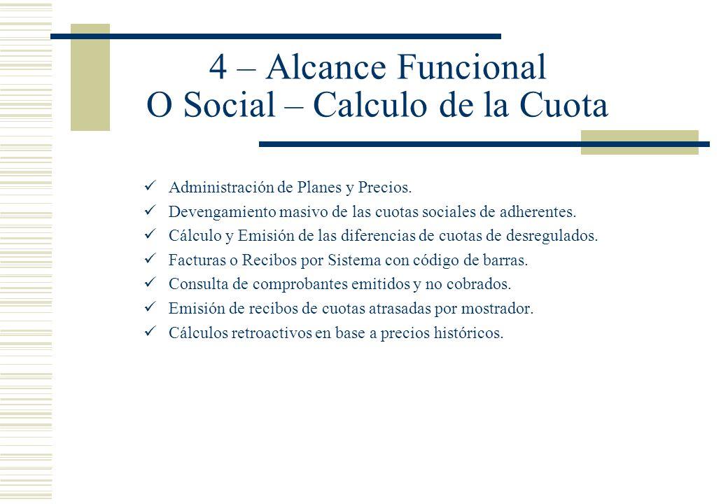 4 – Alcance Funcional O Social – Calculo de la Cuota