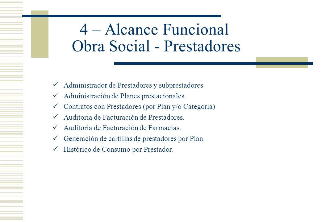 4 – Alcance Funcional Obra Social - Prestadores