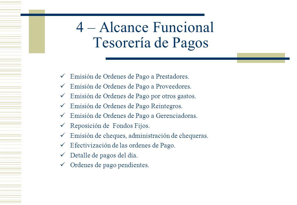 4 – Alcance Funcional Tesorería de Pagos