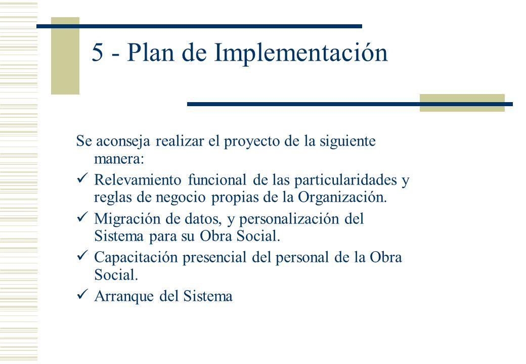 5 - Plan de Implementación