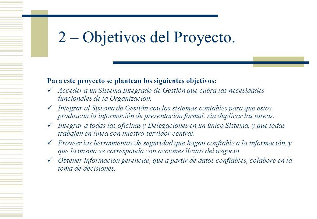2 – Objetivos del Proyecto.