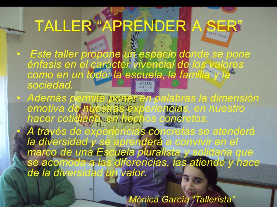 TALLER APRENDER A SER