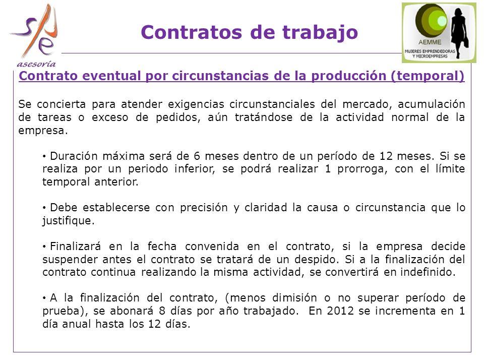Contrato eventual por circunstancias de la producción (temporal)