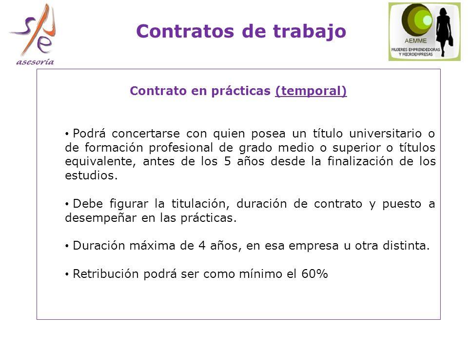 Contrato en prácticas (temporal)