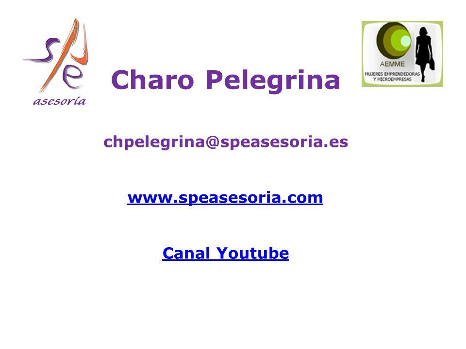 Charo Pelegrina chpelegrina@speasesoria.es www.speasesoria.com