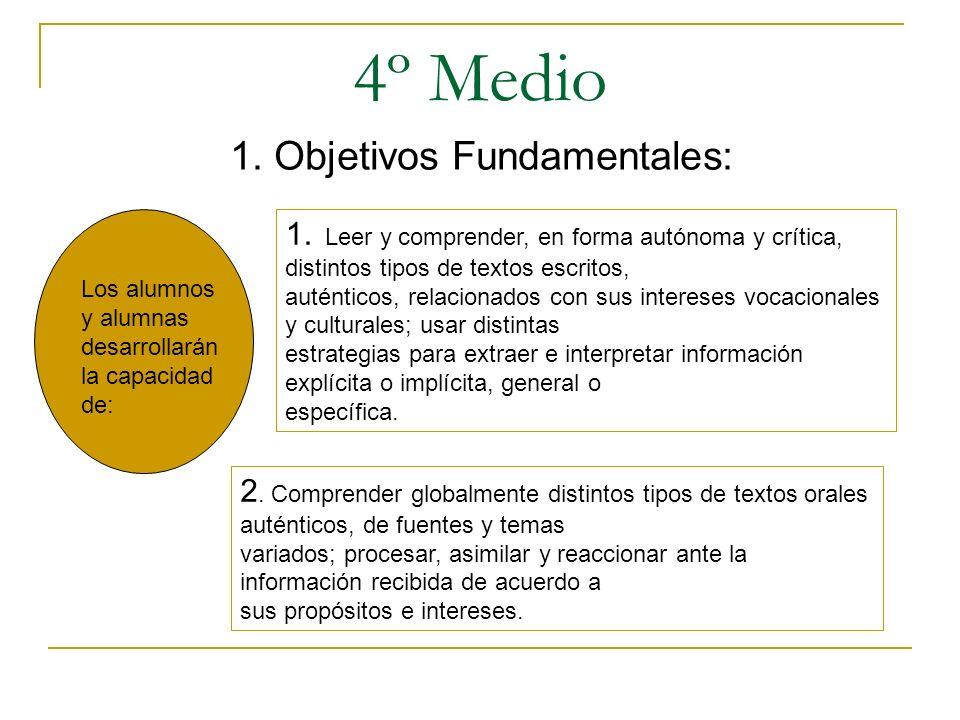 1. Objetivos Fundamentales: