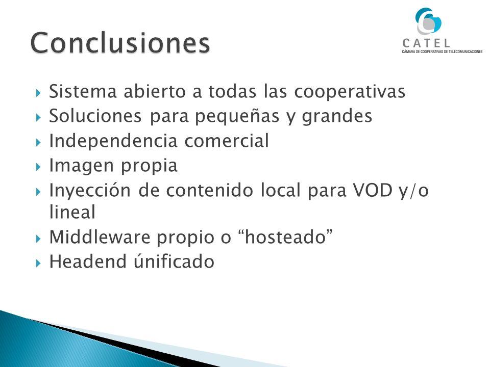 Conclusiones Sistema abierto a todas las cooperativas