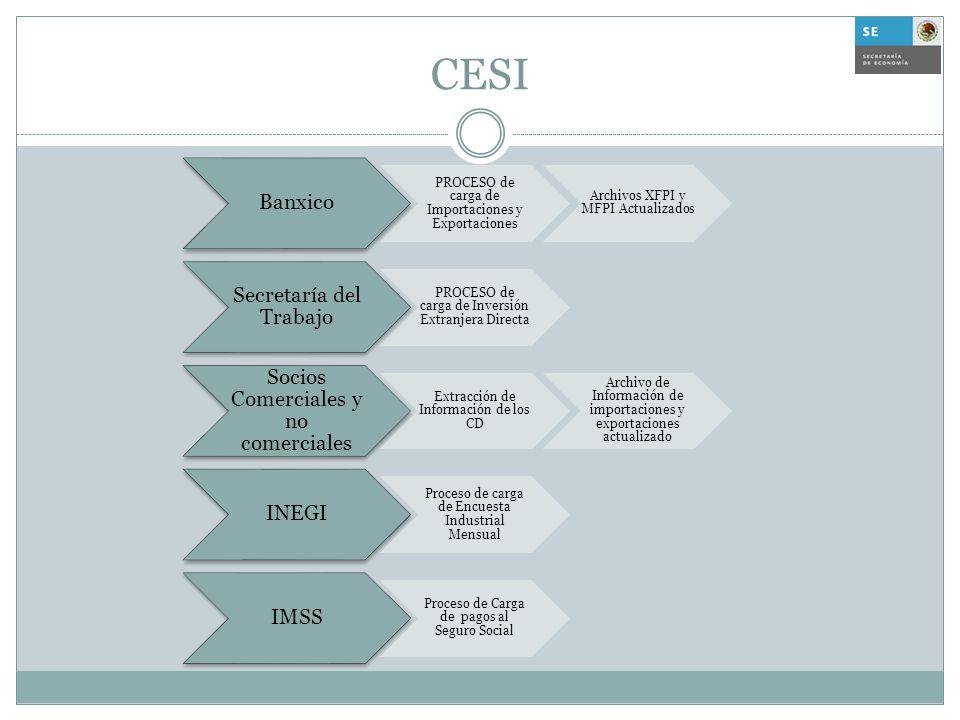 CESI Banxico PROCESO de carga de Importaciones y Exportaciones