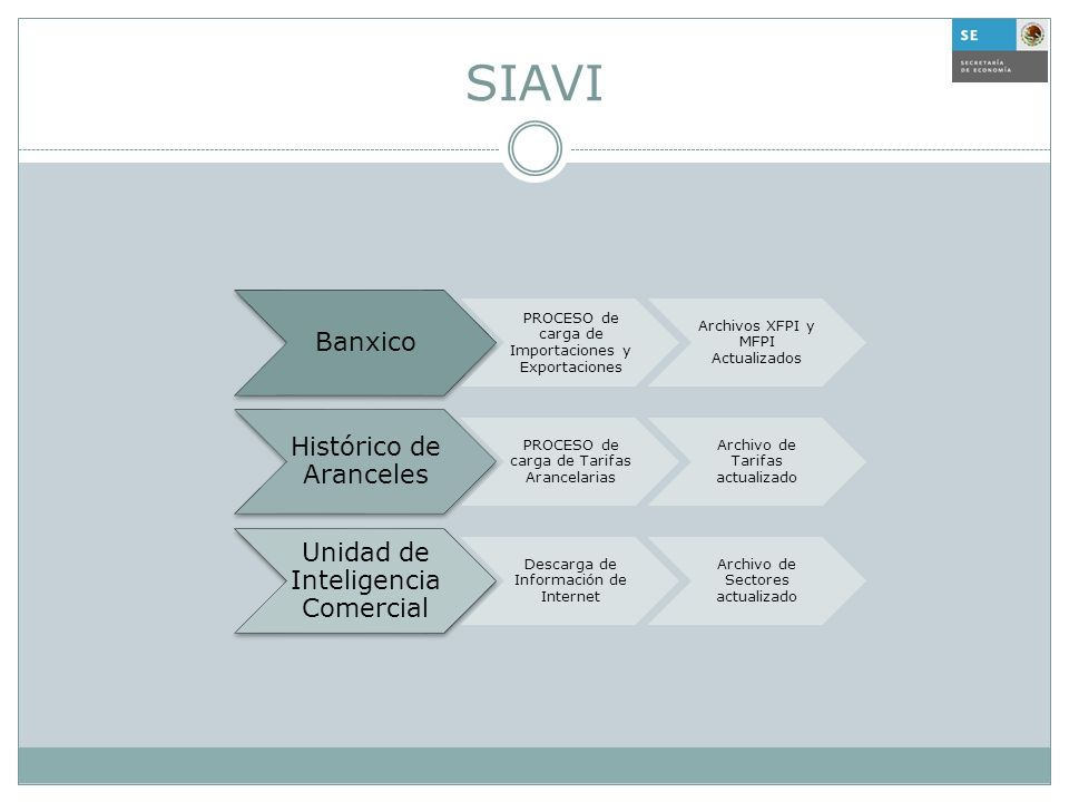 SIAVI Banxico PROCESO de carga de Importaciones y Exportaciones