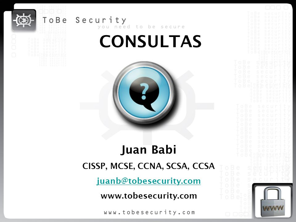 CISSP, MCSE, CCNA, SCSA, CCSA