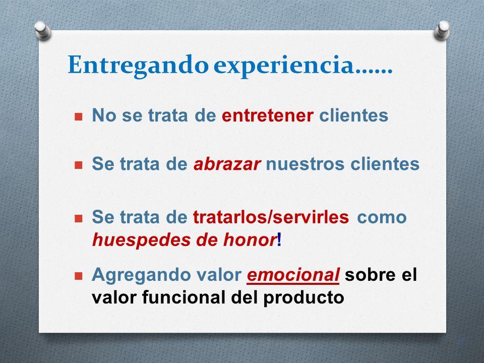Entregando experiencia……