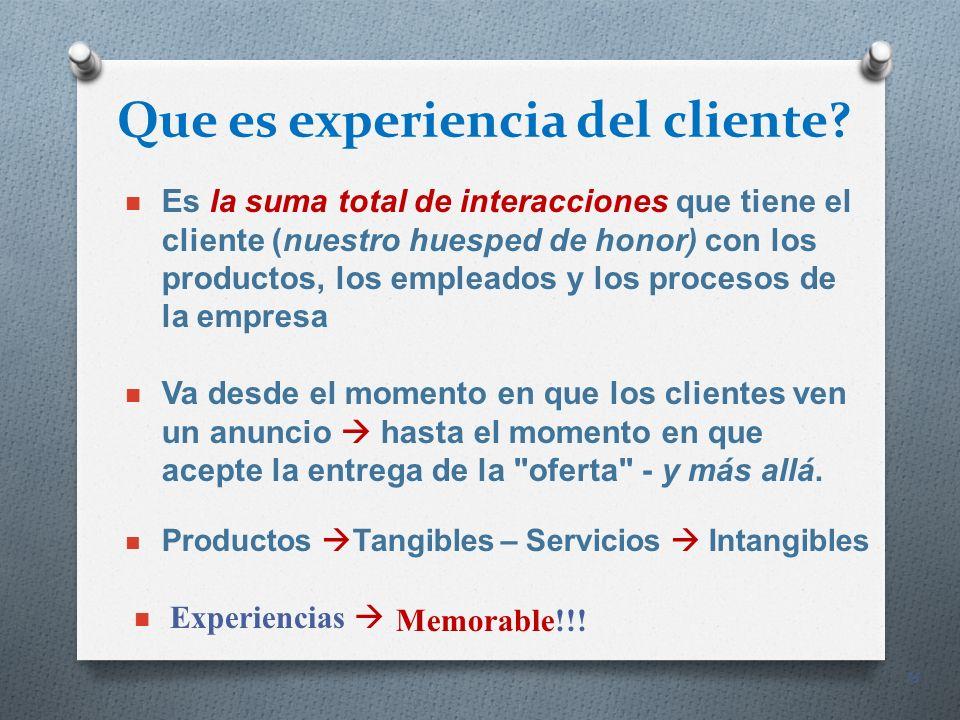 Que es experiencia del cliente