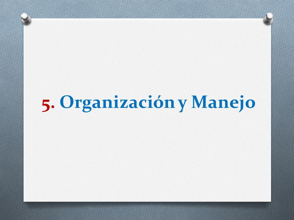 5. Organización y Manejo