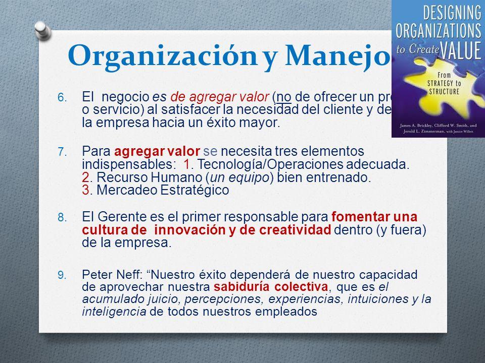 Organización y Manejo