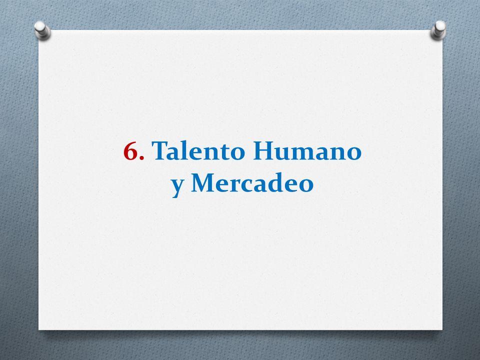 6. Talento Humano y Mercadeo