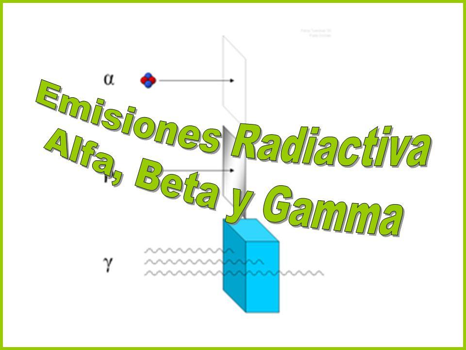 Emisiones Radiactiva Alfa, Beta y Gamma