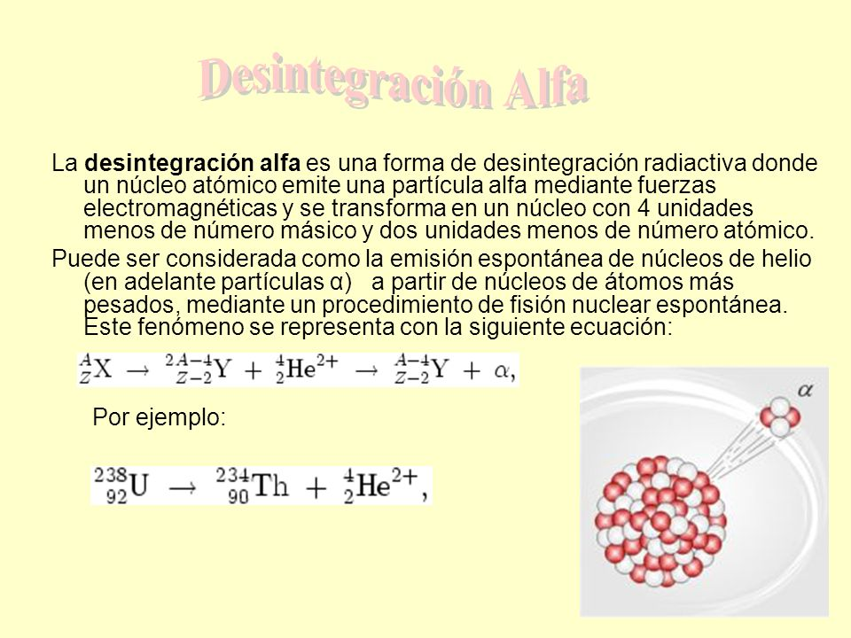 Desintegración Alfa