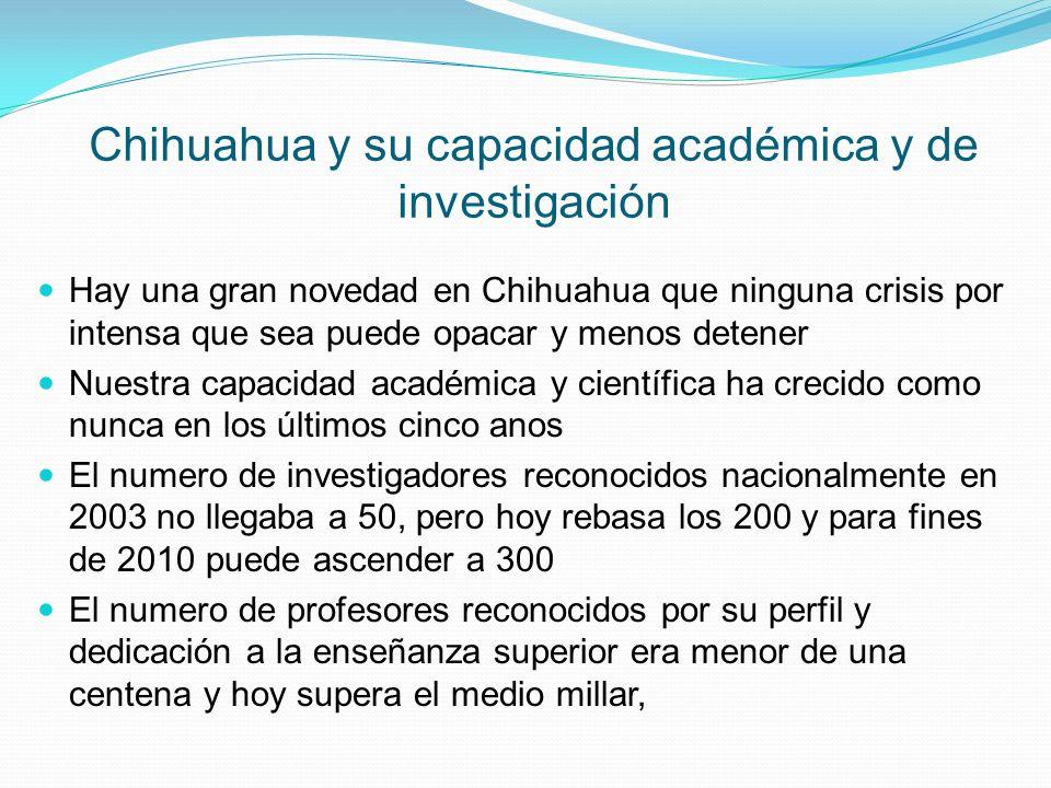 Chihuahua y su capacidad académica y de investigación