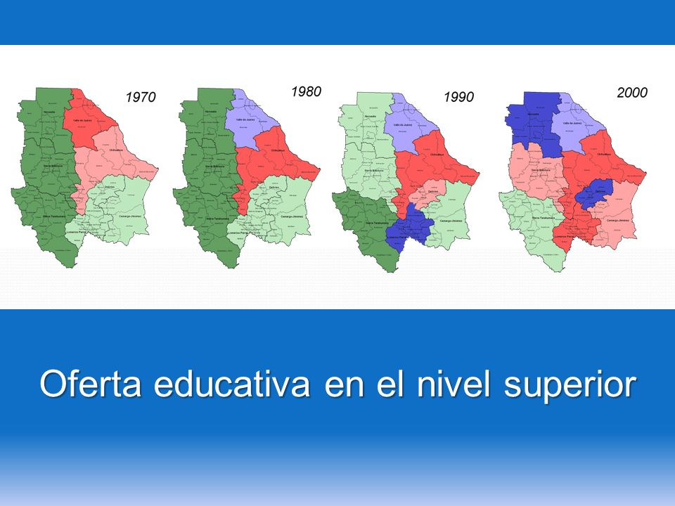 Oferta educativa en el nivel superior