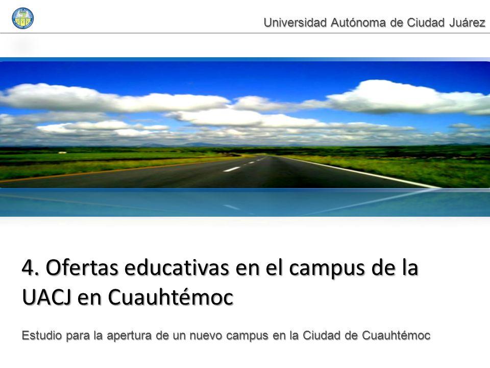 4. Ofertas educativas en el campus de la UACJ en Cuauhtémoc