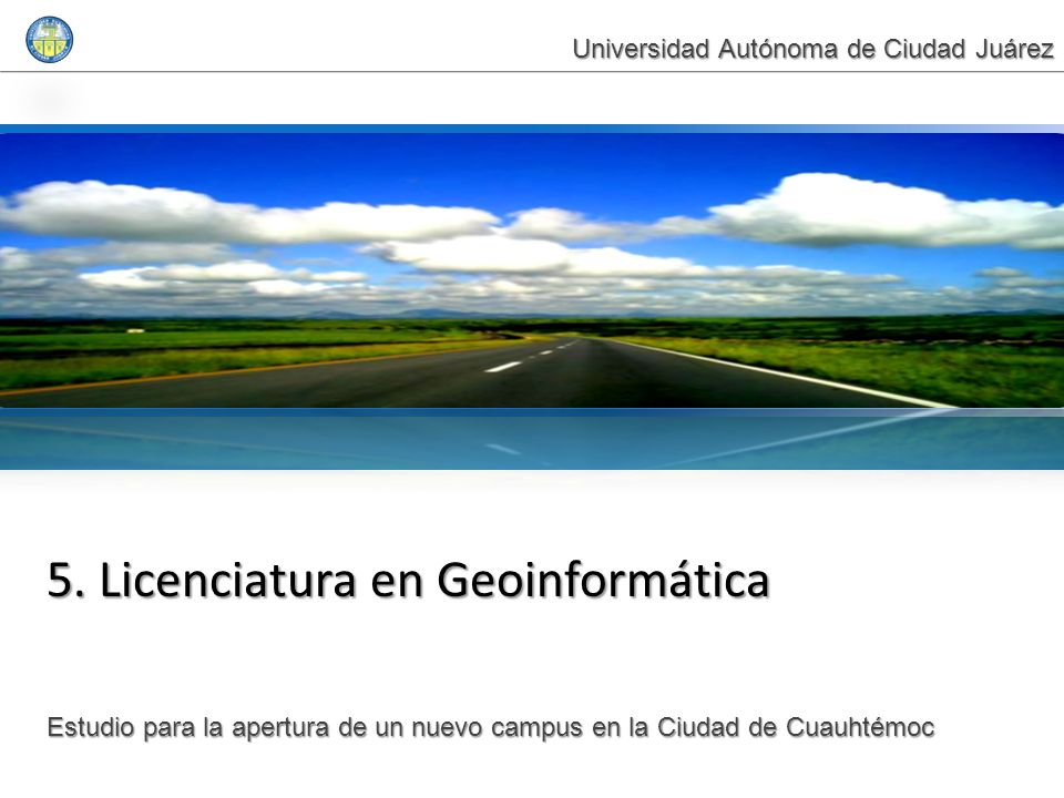 5. Licenciatura en Geoinformática