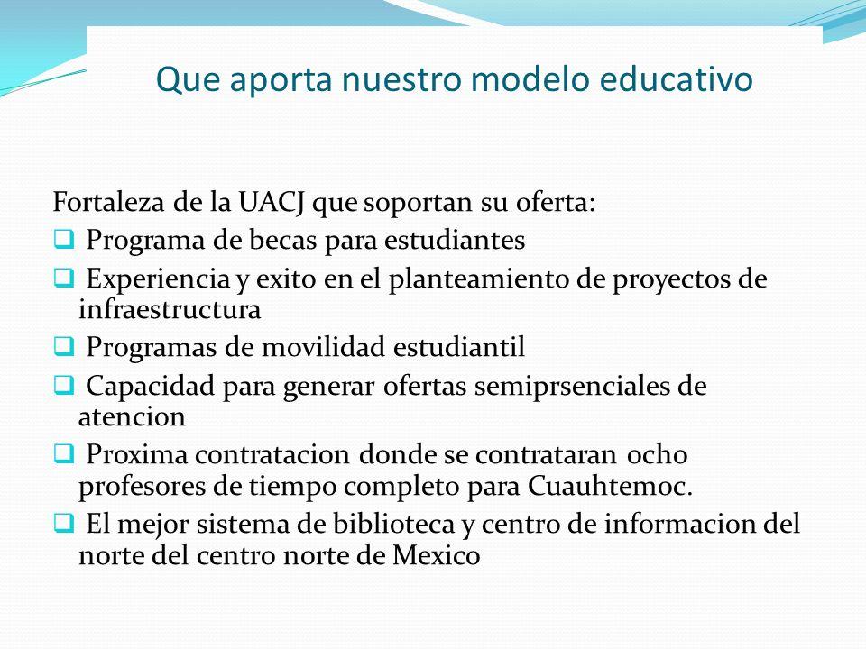 Que aporta nuestro modelo educativo