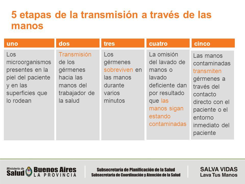 5 etapas de la transmisión a través de las manos