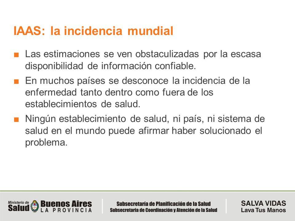 IAAS: la incidencia mundial