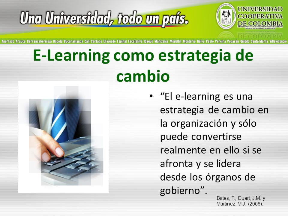 E-Learning como estrategia de cambio