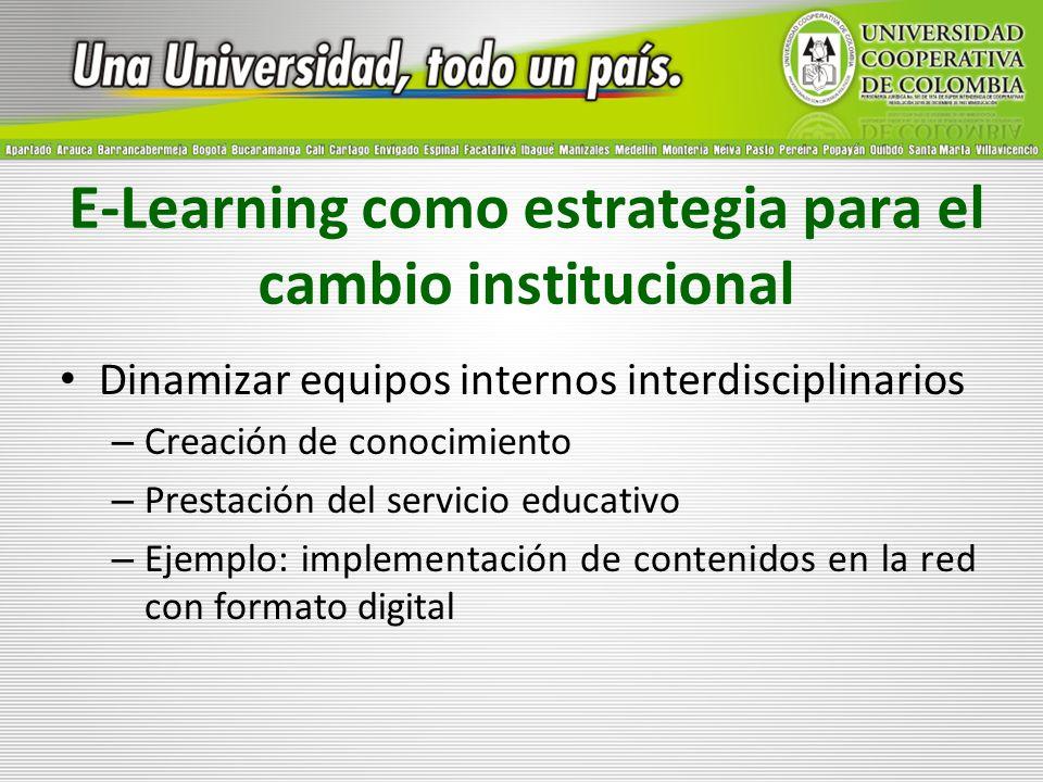 E-Learning como estrategia para el cambio institucional