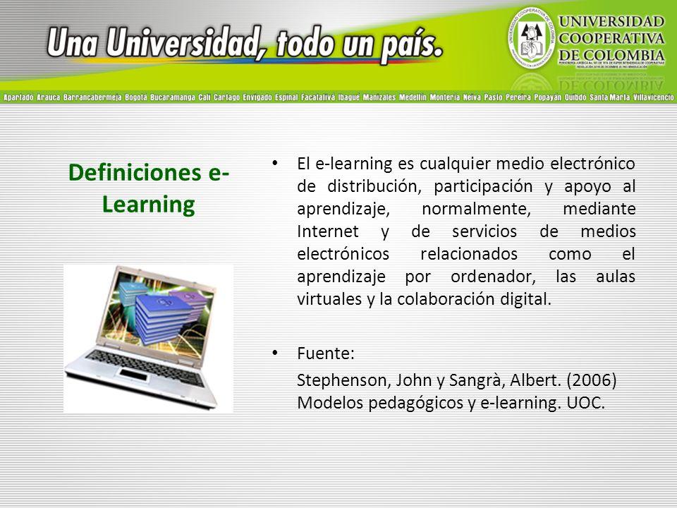 Definiciones e-Learning