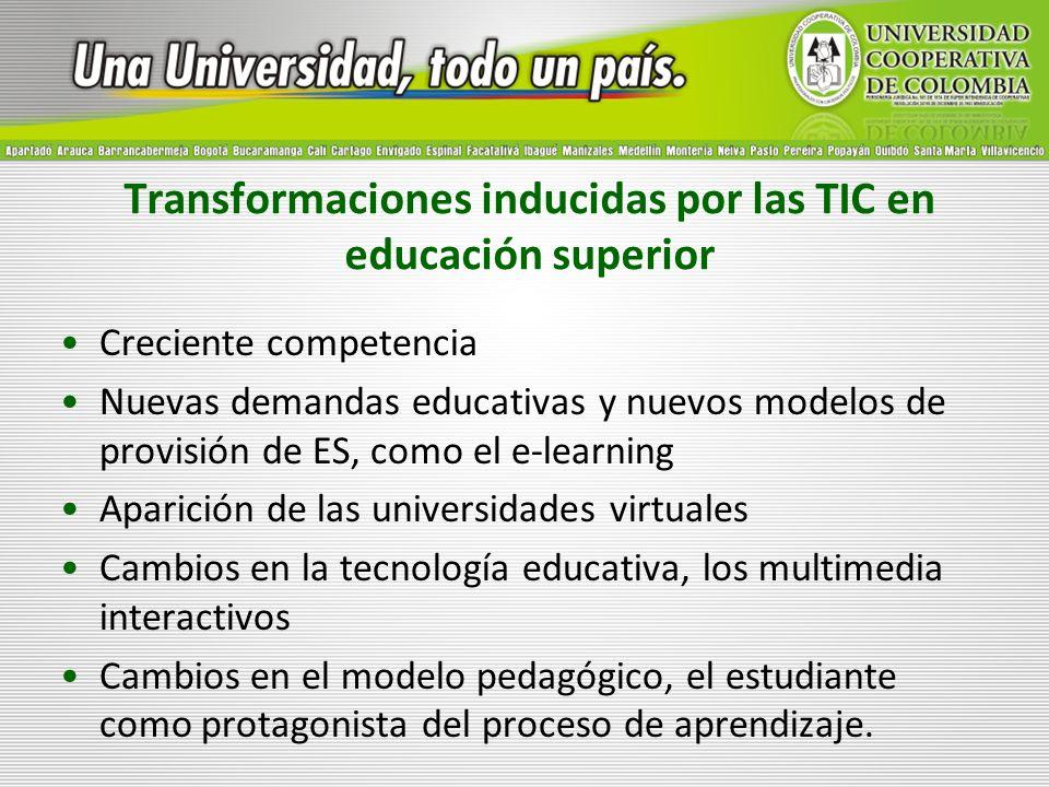 Transformaciones inducidas por las TIC en educación superior