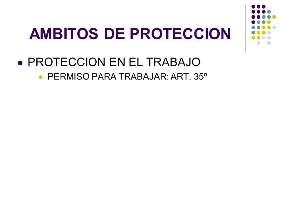 AMBITOS DE PROTECCION PROTECCION EN EL TRABAJO