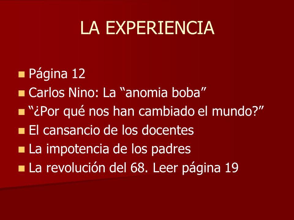 LA EXPERIENCIA Página 12 Carlos Nino: La anomia boba
