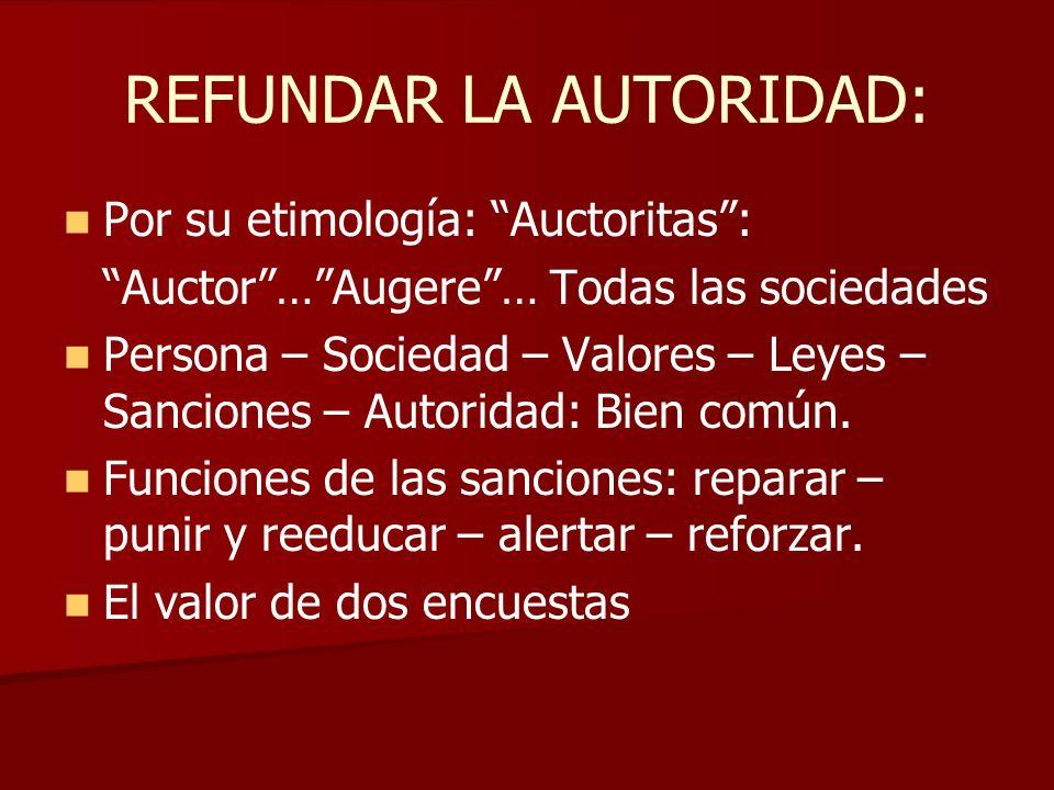 REFUNDAR LA AUTORIDAD: