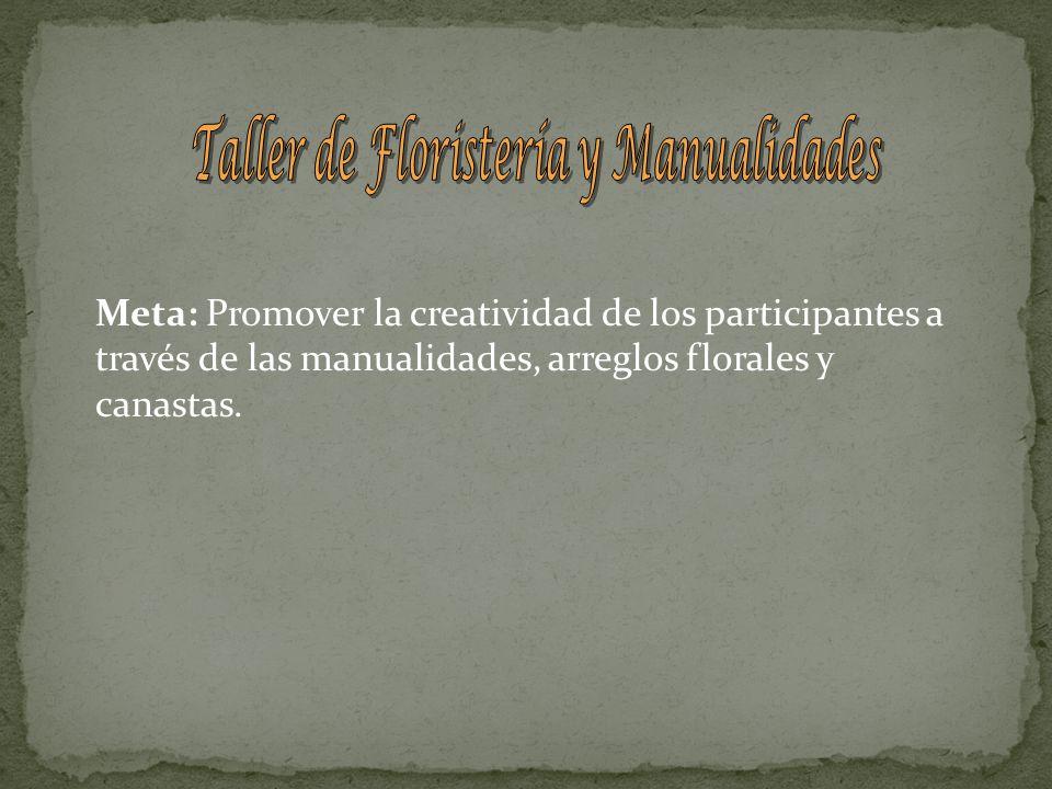 Taller de Floristería y Manualidades