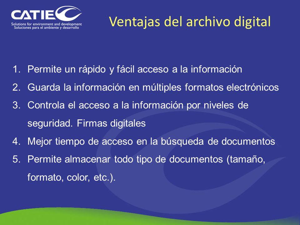 Ventajas del archivo digital