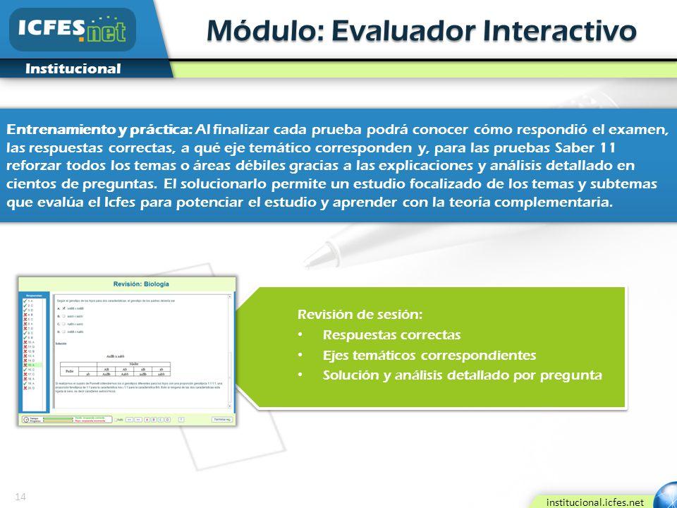 Módulo: Evaluador Interactivo