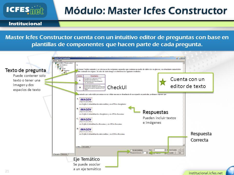 Módulo: Master Icfes Constructor