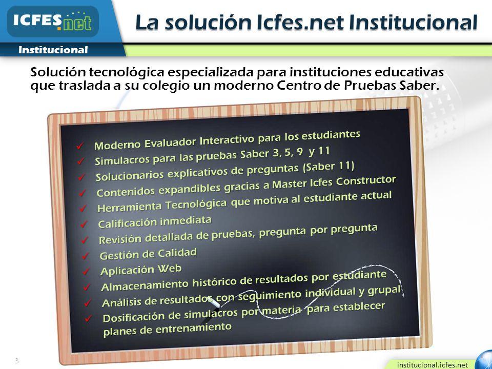 La solución Icfes.net Institucional