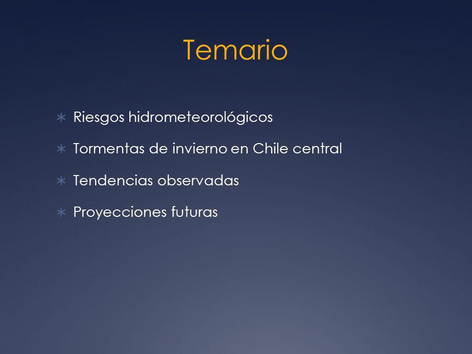 Temario Riesgos hidrometeorológicos