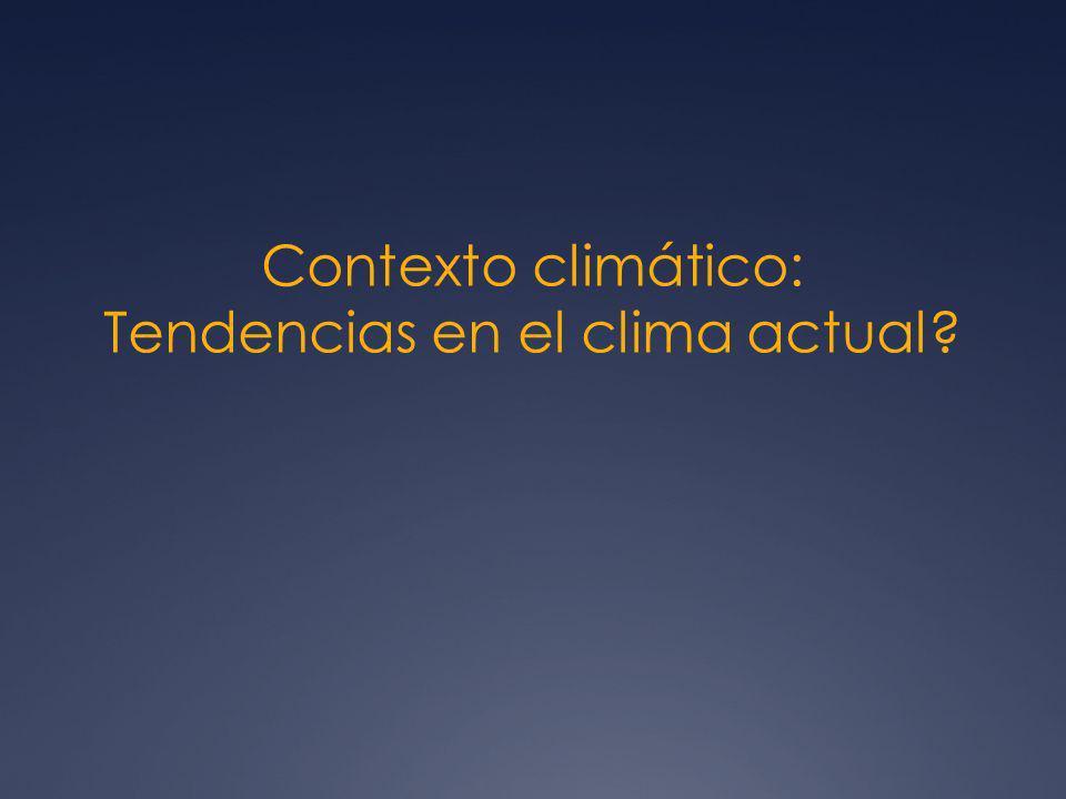 Contexto climático: Tendencias en el clima actual