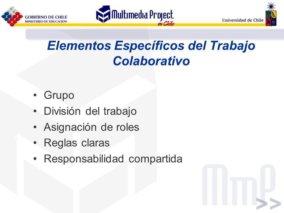 Elementos Específicos del Trabajo Colaborativo