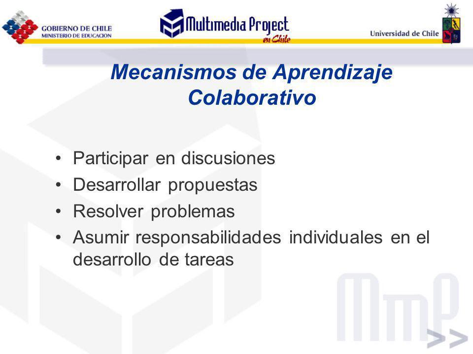 Mecanismos de Aprendizaje Colaborativo